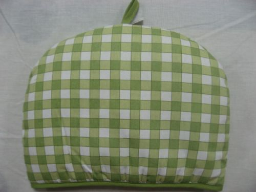 GREEN COLOUR QUILTED CHECK 100% COTTON TEA COSY